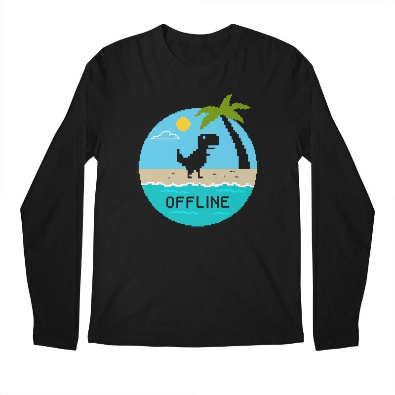 Dinosaur offline Men's Regular Longsleeve T-Shirt by coffeeman's Artist Shop