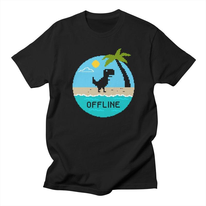 Dinosaur offline Women's Regular Unisex T-Shirt by coffeeman's Artist Shop