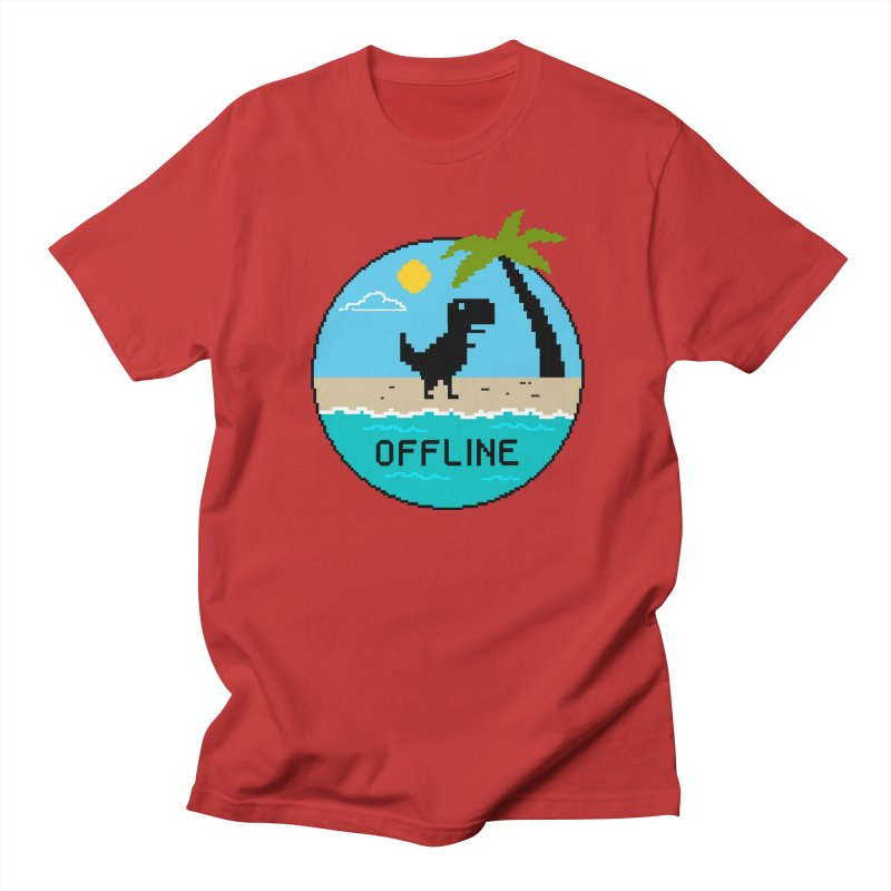 Dinosaur offline Women's Regular Unisex T-Shirt by coffeeman's Artist Shop