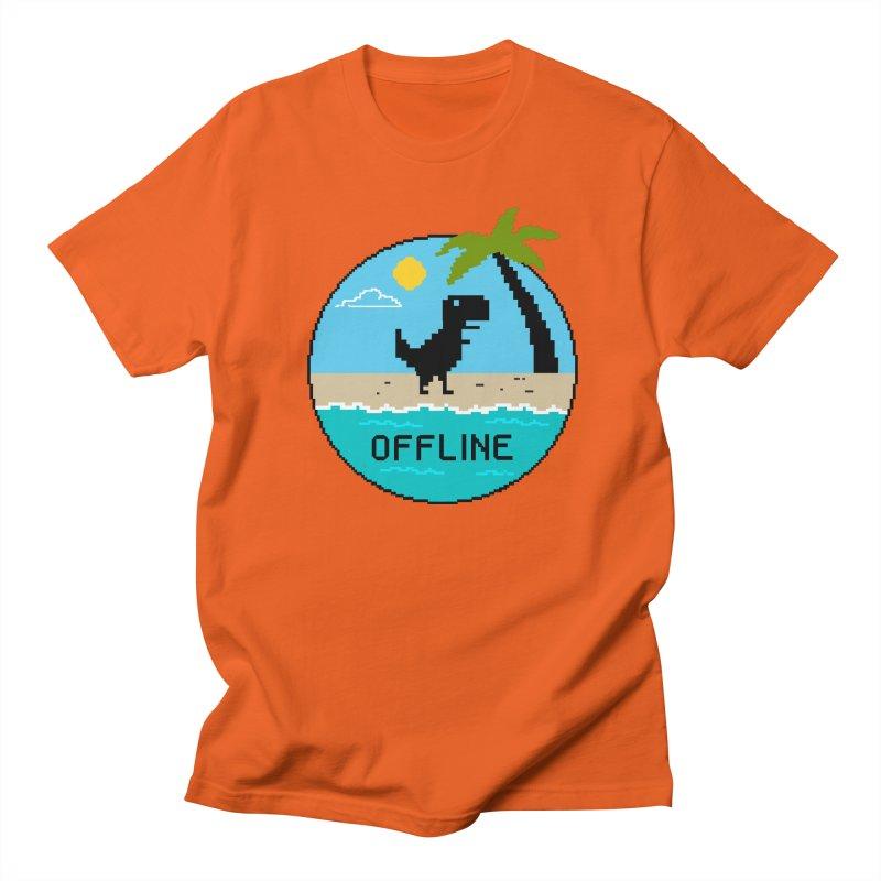 Dinosaur offline Men's Regular T-Shirt by coffeeman's Artist Shop