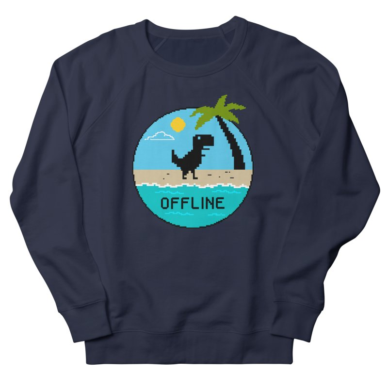 Dinosaur offline Women's French Terry Sweatshirt by coffeeman's Artist Shop