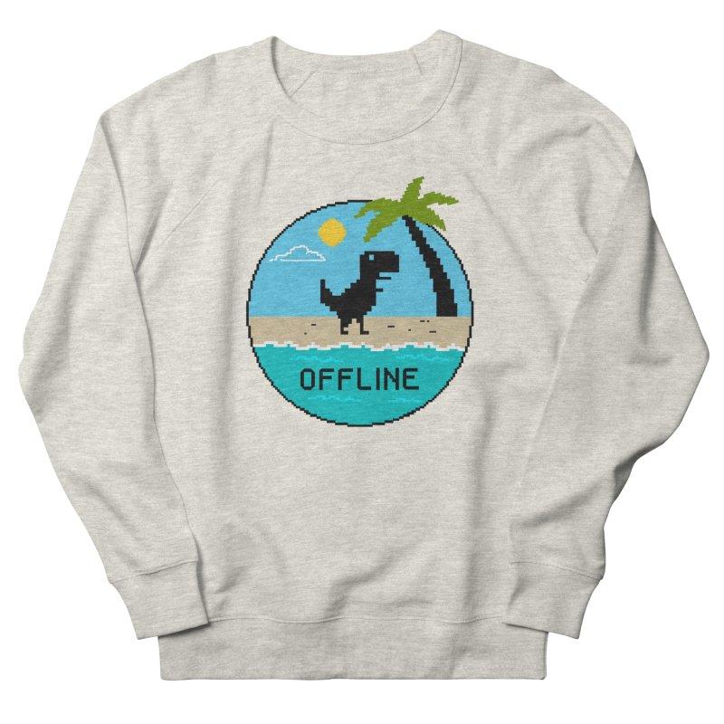 Dinosaur offline Men's French Terry Sweatshirt by coffeeman's Artist Shop