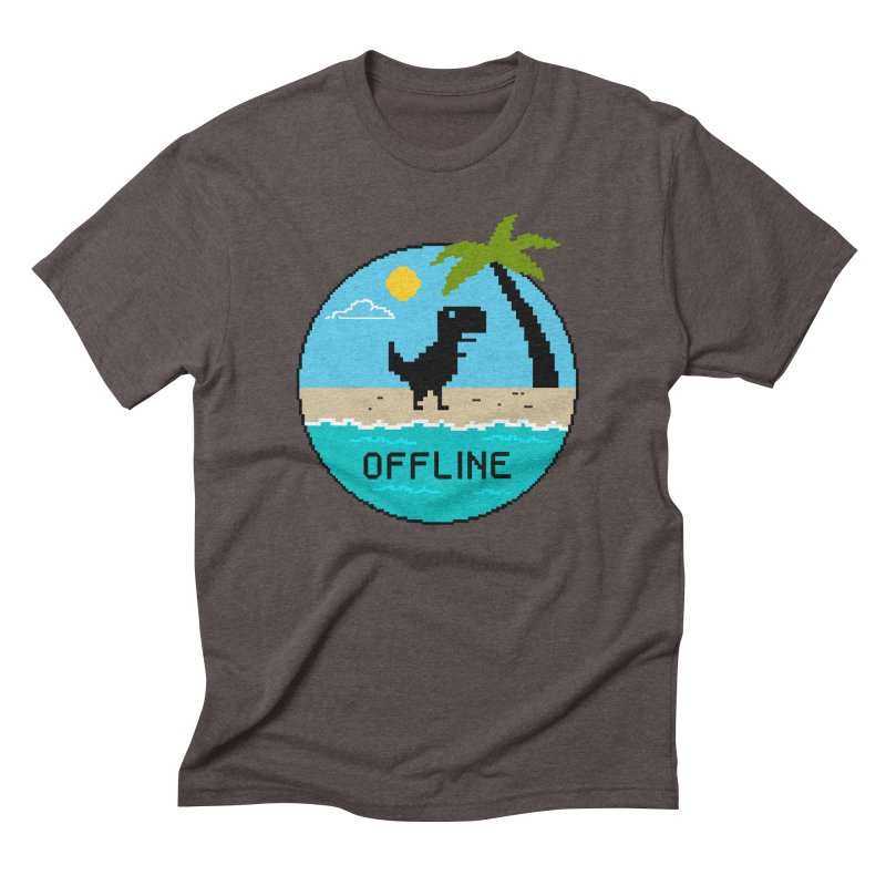 Dinosaur offline Men's Triblend T-Shirt by coffeeman's Artist Shop