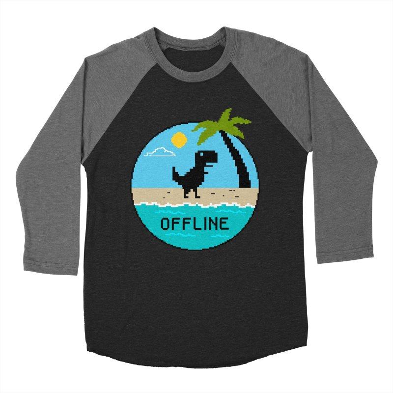 offline Men's Baseball Triblend Longsleeve T-Shirt by coffeeman's Artist Shop