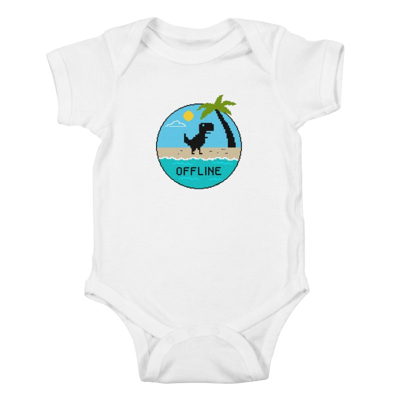 offline Kids Baby Bodysuit by coffeeman's Artist Shop