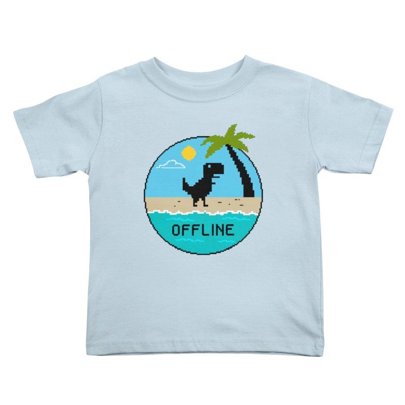 Dinosaur offline Kids Toddler T-Shirt by coffeeman's Artist Shop