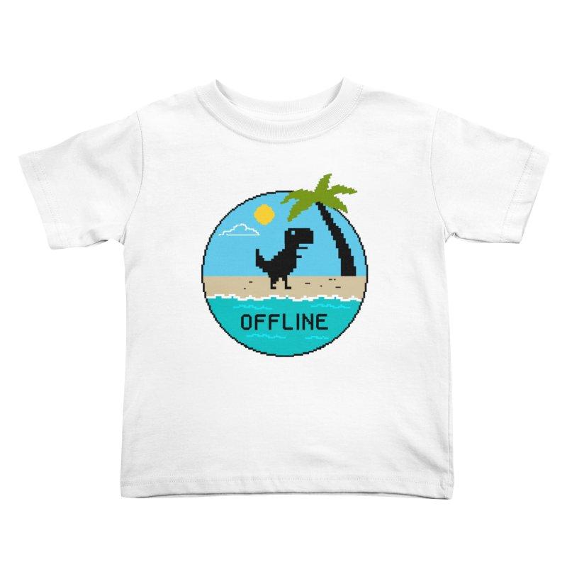 offline Kids Toddler T-Shirt by coffeeman's Artist Shop