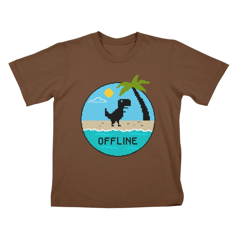Dinosaur offline Kids T-Shirt by coffeeman's Artist Shop