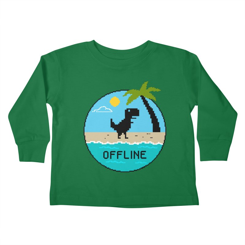 Dinosaur offline Kids Toddler Longsleeve T-Shirt by coffeeman's Artist Shop