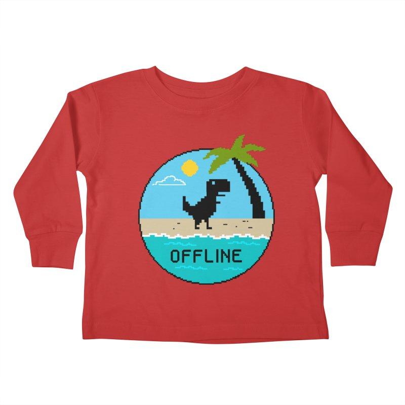 Dinosaur offline Kids Toddler Longsleeve T-Shirt by coffeeman's Artist Shop