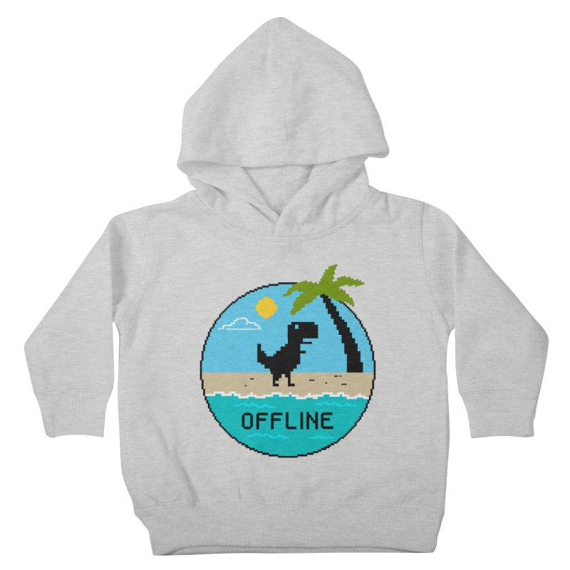 Dinosaur offline Kids Toddler Pullover Hoody by coffeeman's Artist Shop