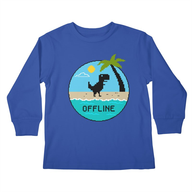 offline Kids Longsleeve T-Shirt by coffeeman's Artist Shop