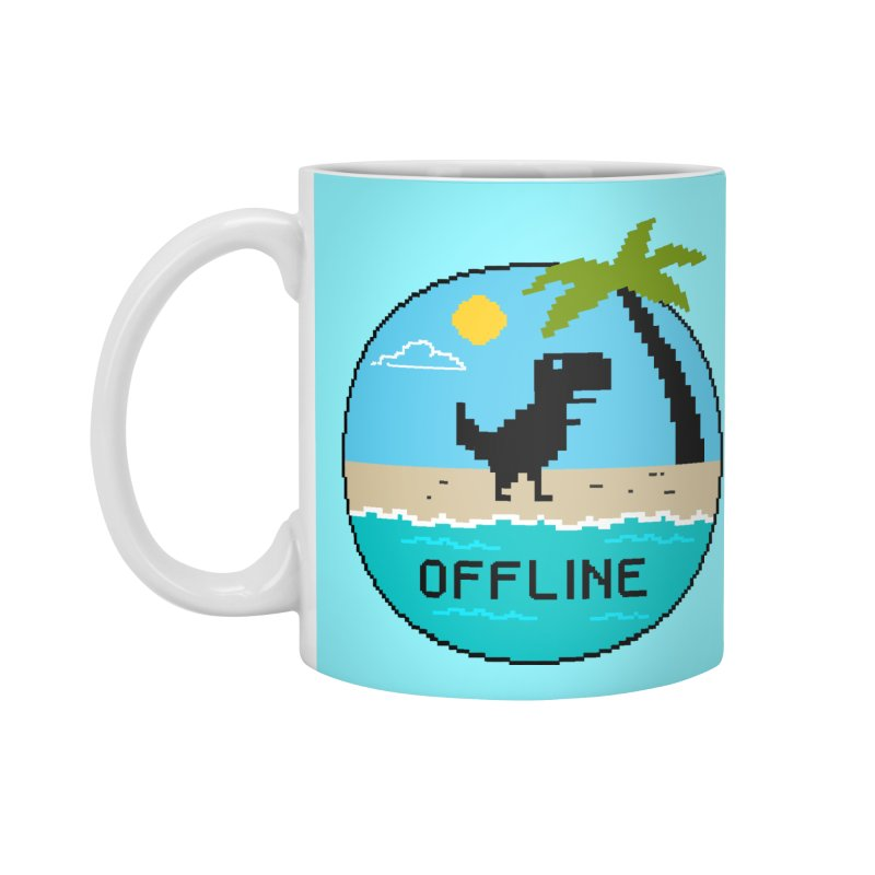 Dinosaur offline Accessories Standard Mug by coffeeman's Artist Shop