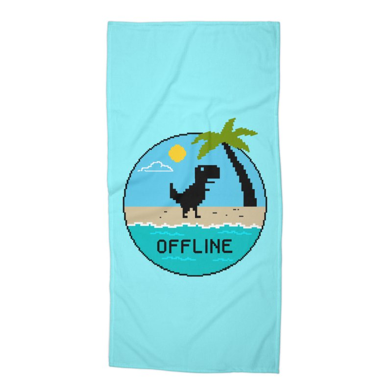 Dinosaur offline Accessories Beach Towel by coffeeman's Artist Shop