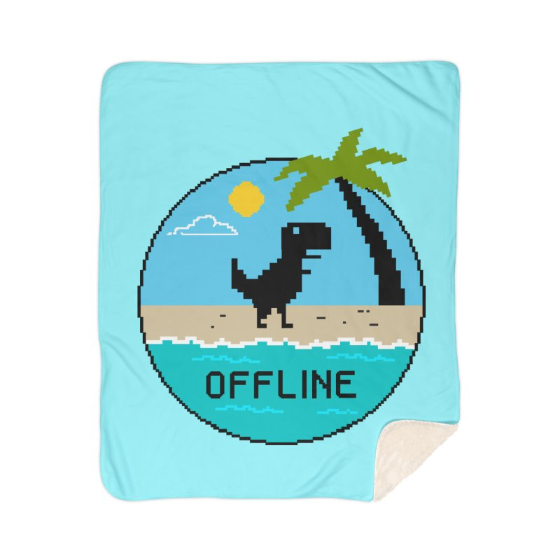 Dinosaur offline Home Sherpa Blanket Blanket by coffeeman's Artist Shop