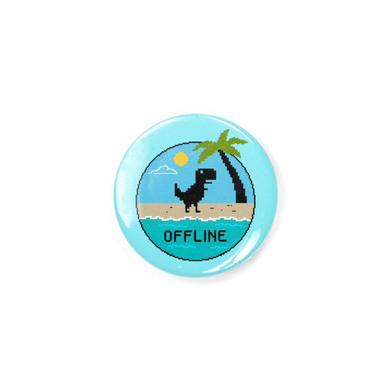 Dinosaur offline Accessories Button by coffeeman's Artist Shop