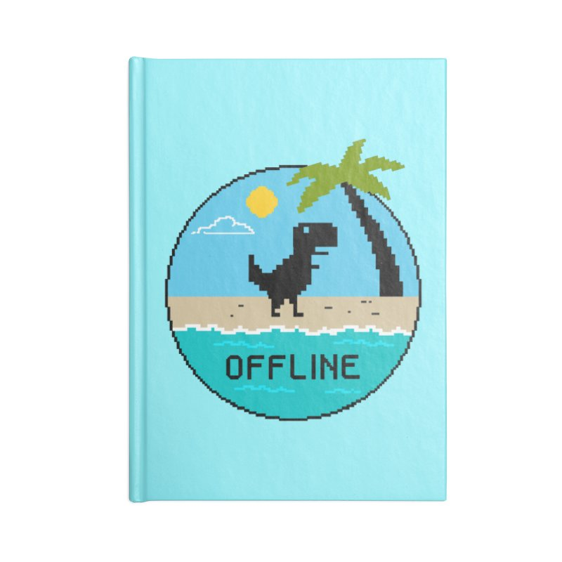 Dinosaur offline Accessories Lined Journal Notebook by coffeeman's Artist Shop