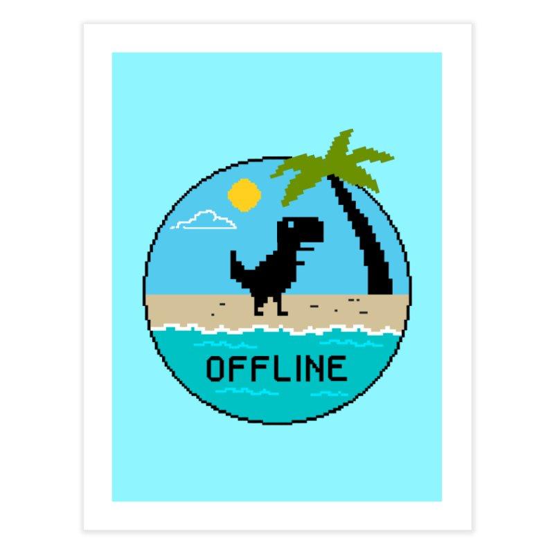 Dinosaur offline Home Fine Art Print by coffeeman's Artist Shop