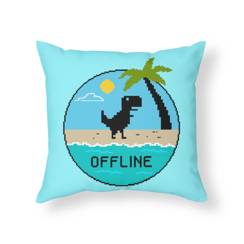 Dinosaur offline Home Throw Pillow by coffeeman's Artist Shop