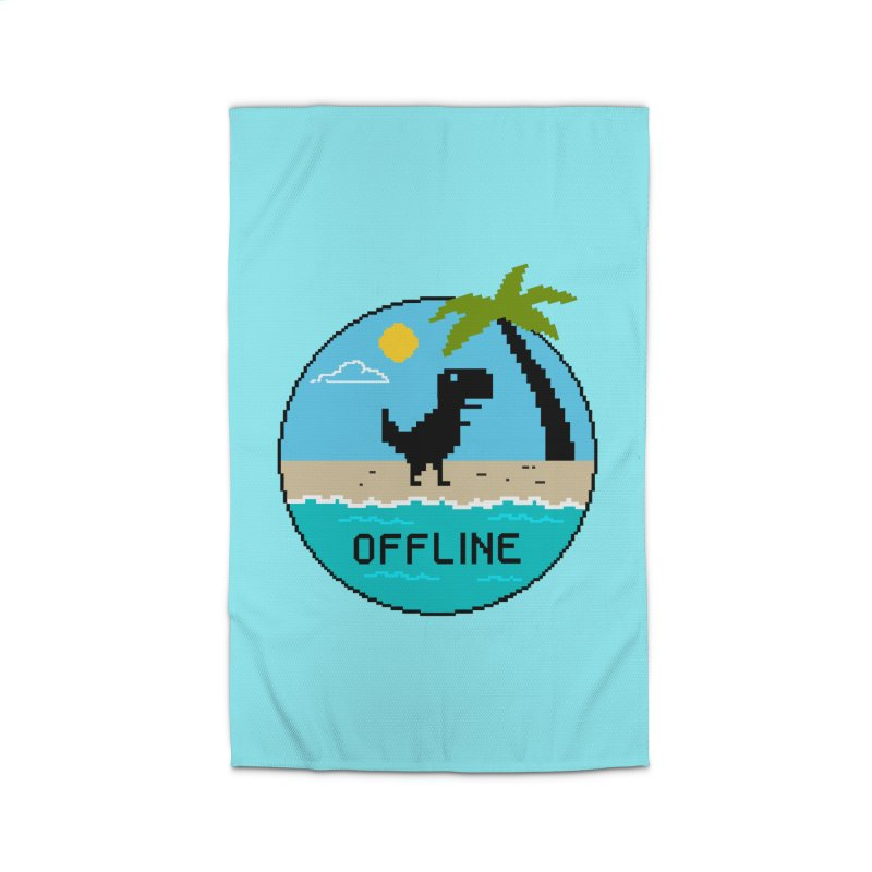 Dinosaur offline Home Rug by coffeeman's Artist Shop
