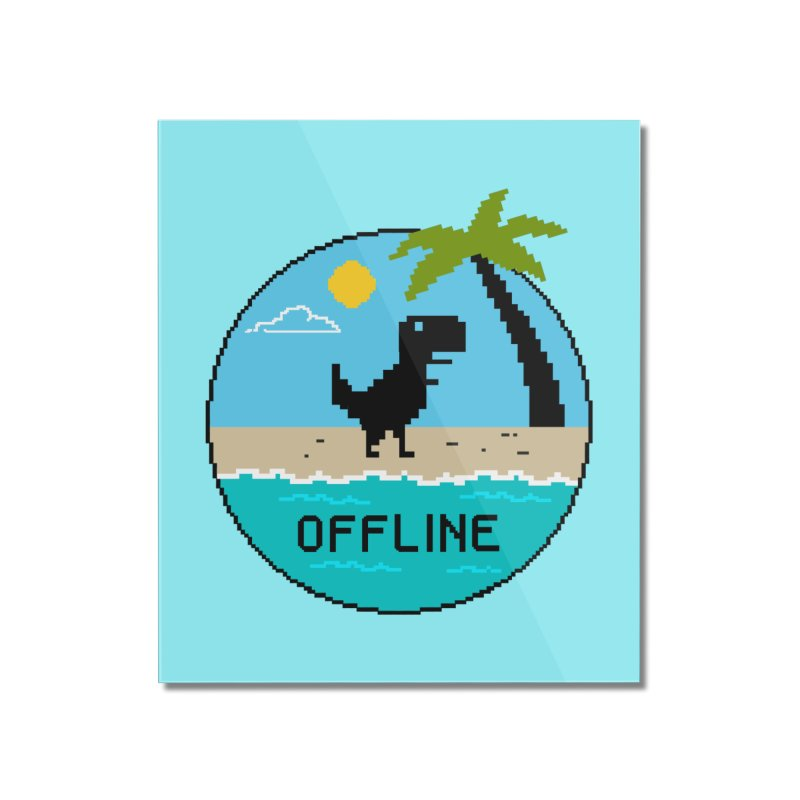 Dinosaur offline Home Mounted Acrylic Print by coffeeman's Artist Shop