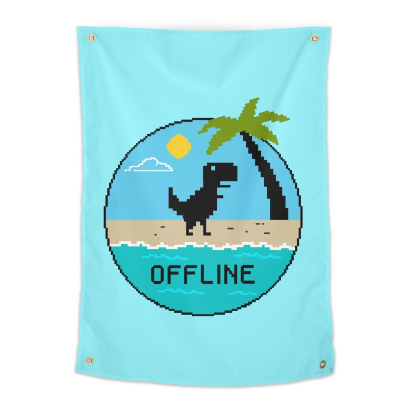 Dinosaur offline Home Tapestry by coffeeman's Artist Shop