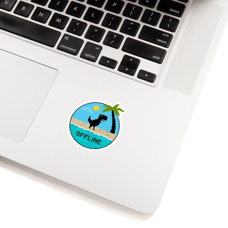 Dinosaur offline Accessories Sticker by coffeeman's Artist Shop