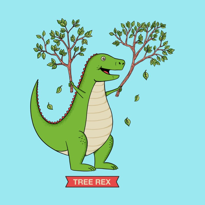 Tree Rex Accessories Sticker by coffeeman's Artist Shop