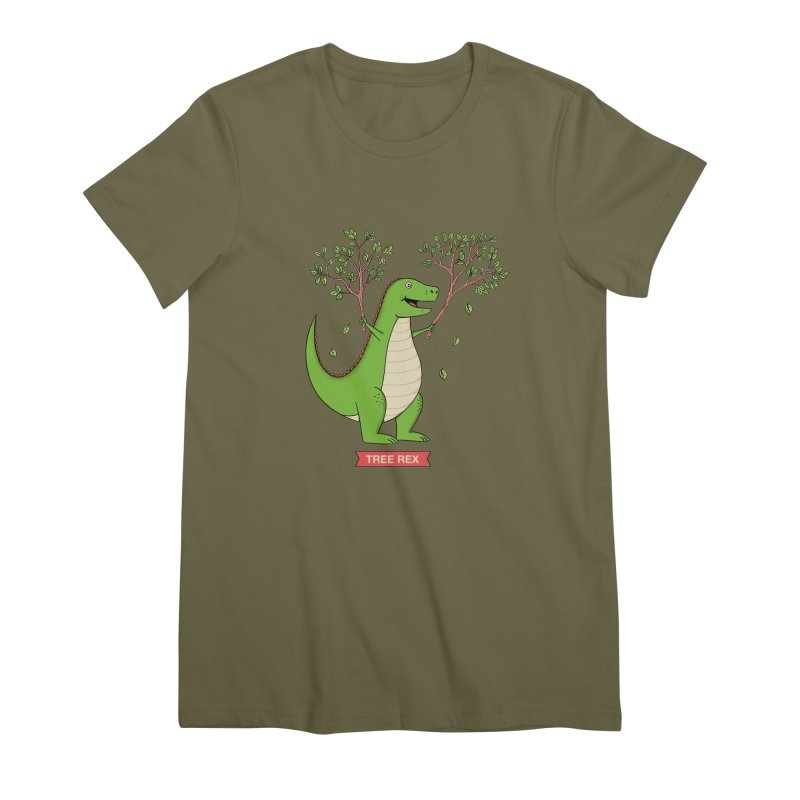 Tree Rex Women's Premium T-Shirt by coffeeman's Artist Shop