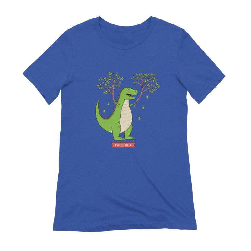 Tree Rex Women's Extra Soft T-Shirt by coffeeman's Artist Shop