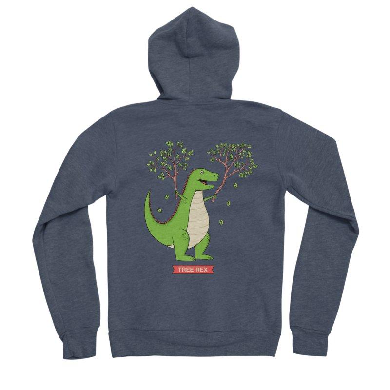 Tree Rex Men's Sponge Fleece Zip-Up Hoody by coffeeman's Artist Shop