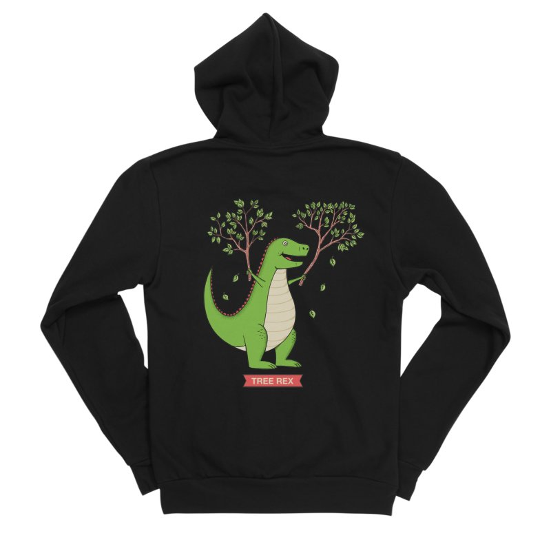 Tree Rex Women's Sponge Fleece Zip-Up Hoody by coffeeman's Artist Shop