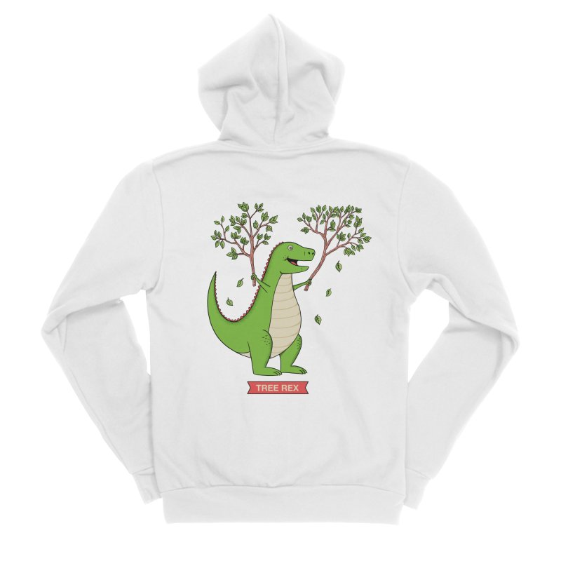Tree Rex Men's Sponge Fleece Zip-Up Hoody by coffeeman's Artist Shop