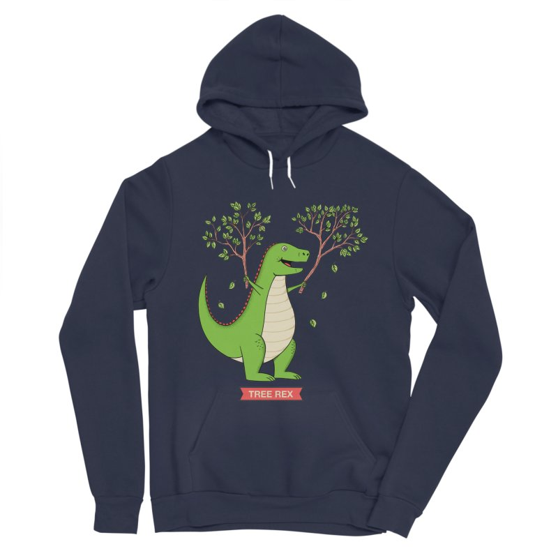Tree Rex Women's Sponge Fleece Pullover Hoody by coffeeman's Artist Shop