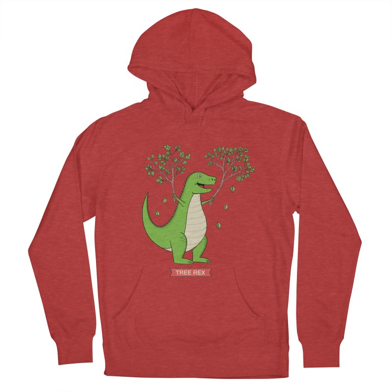Tree Rex Women's French Terry Pullover Hoody by coffeeman's Artist Shop