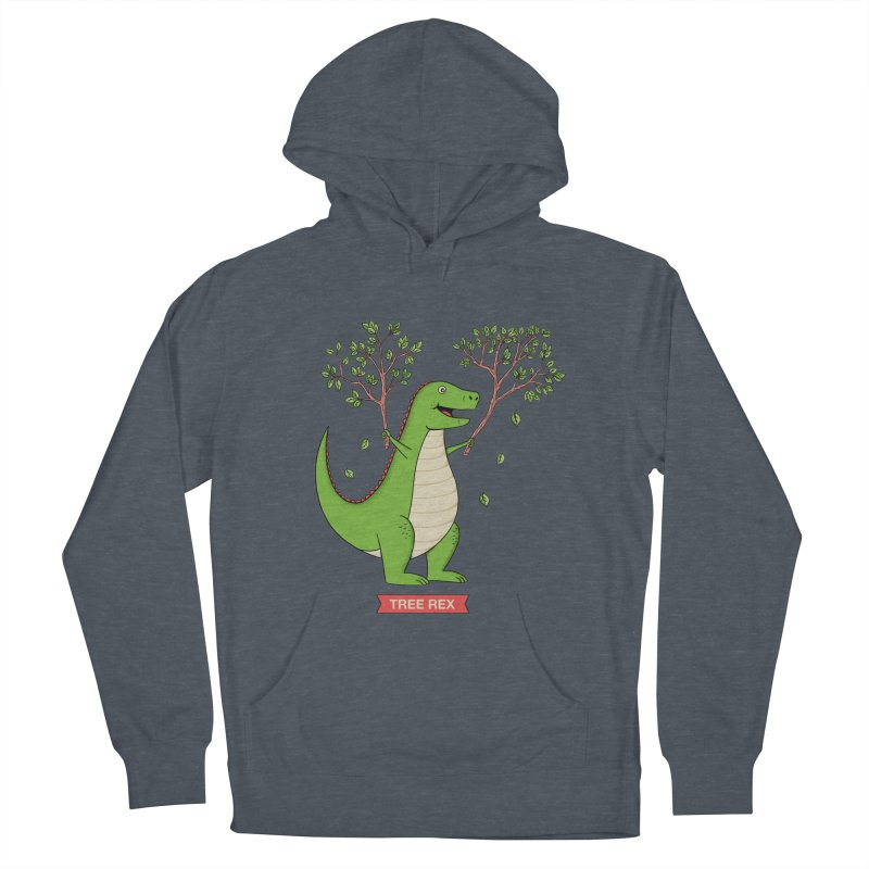 Tree Rex Men's French Terry Pullover Hoody by coffeeman's Artist Shop
