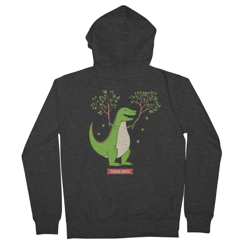 Tree Rex Women's French Terry Zip-Up Hoody by coffeeman's Artist Shop