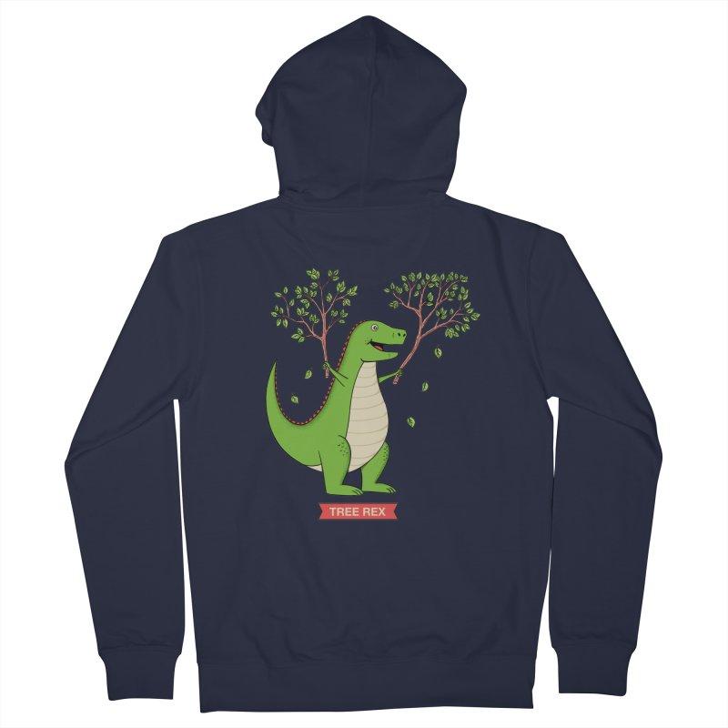 Tree Rex Men's French Terry Zip-Up Hoody by coffeeman's Artist Shop