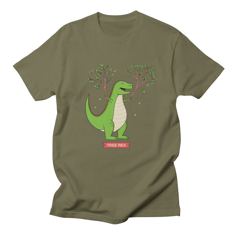 Tree Rex Women's Regular Unisex T-Shirt by coffeeman's Artist Shop