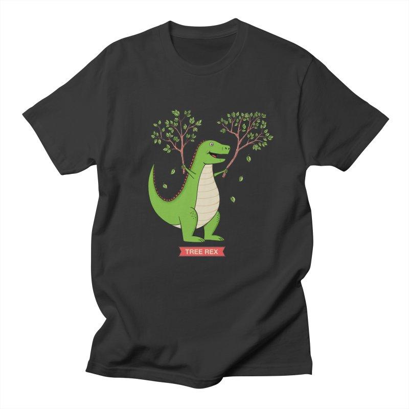 Tree Rex Men's Regular T-Shirt by coffeeman's Artist Shop