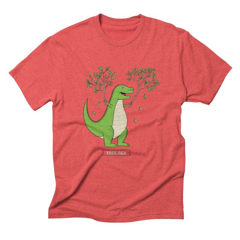 Tree Rex Men's Triblend T-Shirt by coffeeman's Artist Shop