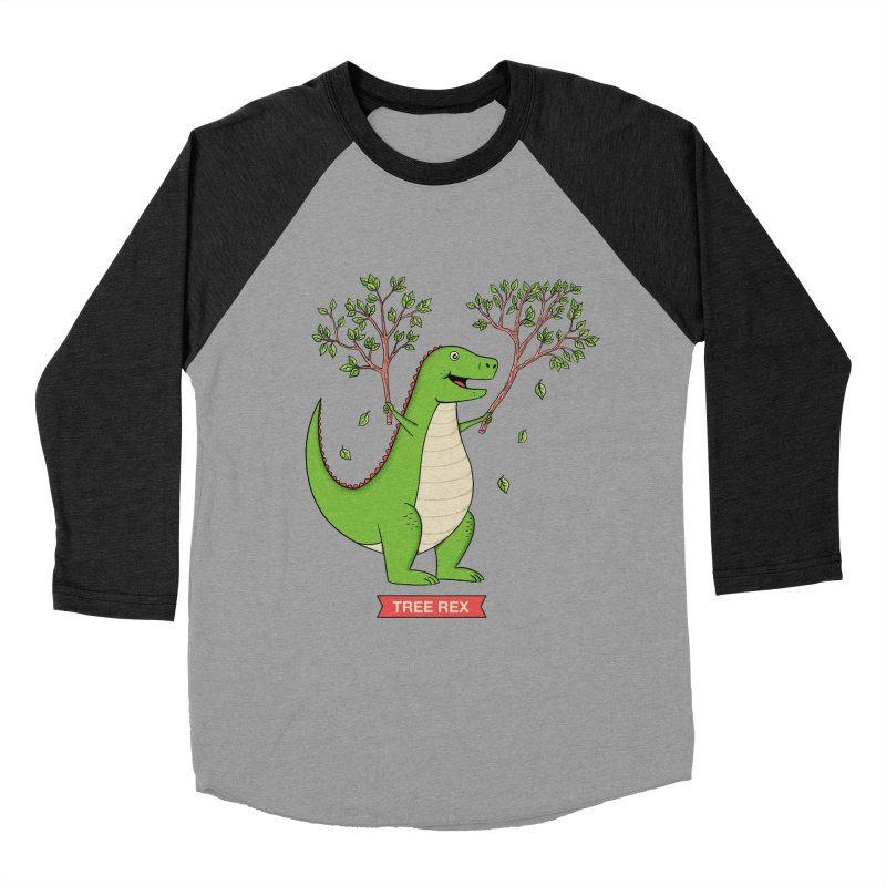 Tree Rex Women's Baseball Triblend Longsleeve T-Shirt by coffeeman's Artist Shop