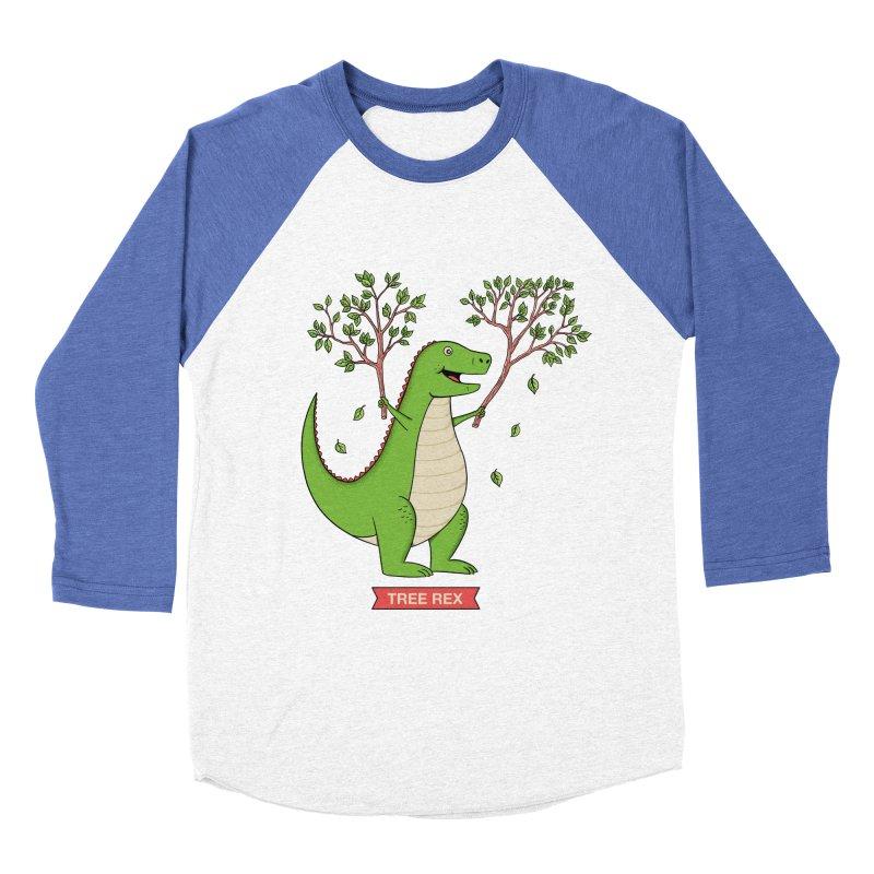 Tree Rex Men's Baseball Triblend Longsleeve T-Shirt by coffeeman's Artist Shop
