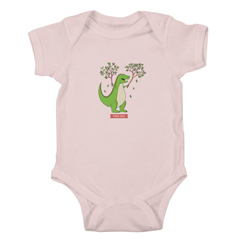 Tree Rex Kids Baby Bodysuit by coffeeman's Artist Shop