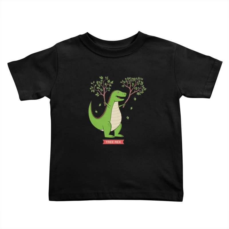 Tree Rex Kids Toddler T-Shirt by coffeeman's Artist Shop