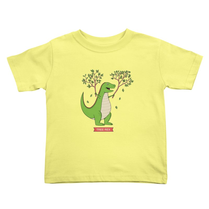 Tree Rex Kids Toddler T-Shirt by coffeeman's Artist Shop