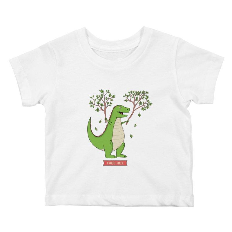 Tree Rex Kids Baby T-Shirt by coffeeman's Artist Shop
