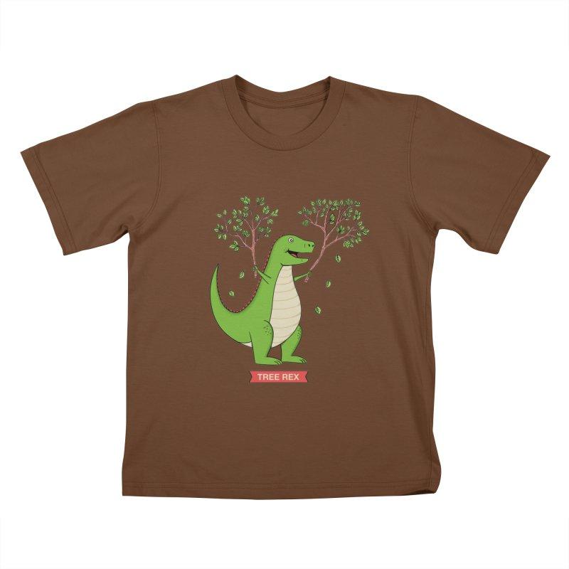 Tree Rex Kids T-Shirt by coffeeman's Artist Shop