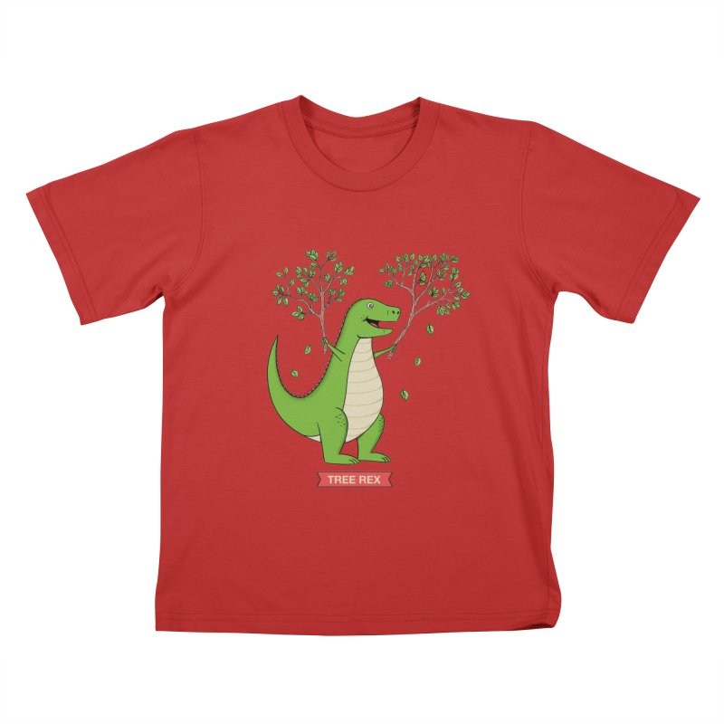 Tree Rex Kids T-Shirt by coffeeman's Artist Shop