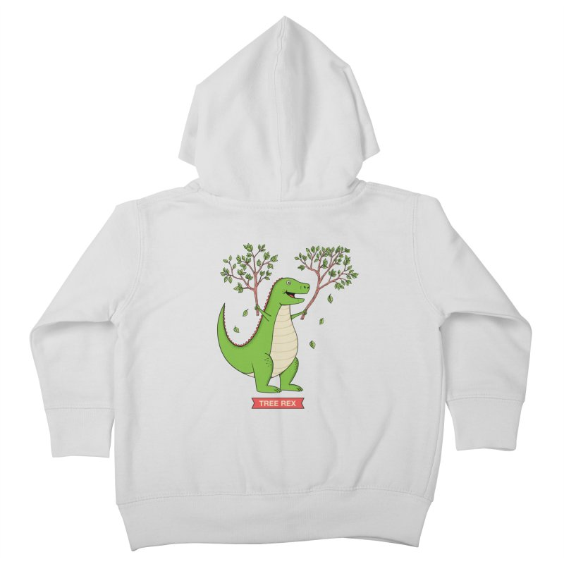 Tree Rex Kids Toddler Zip-Up Hoody by coffeeman's Artist Shop